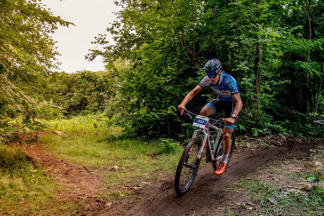 Mountainbike Paal