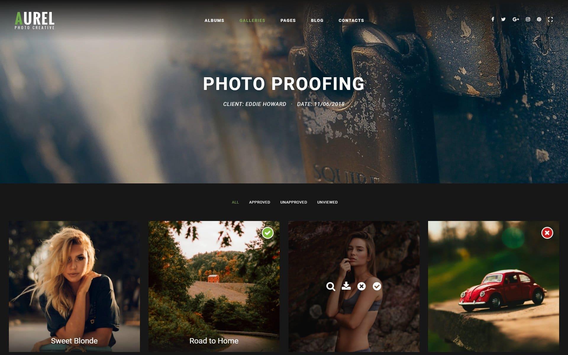 aurel photo proofing